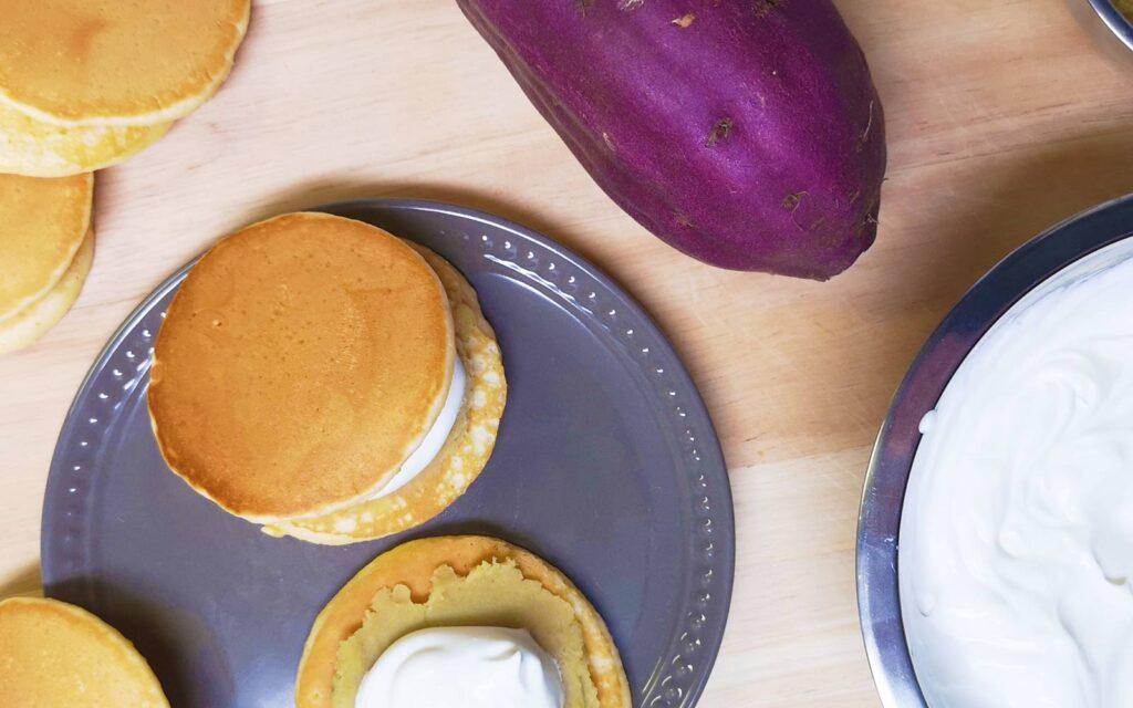Japanese Recipe Adventures: Sweet Potato Spiced Dorayaki