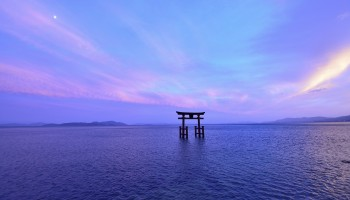 Lake Biwa in Shiga Prefecture