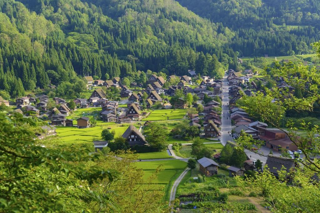 Gokayama village in Toyama prefecture, Chubu region