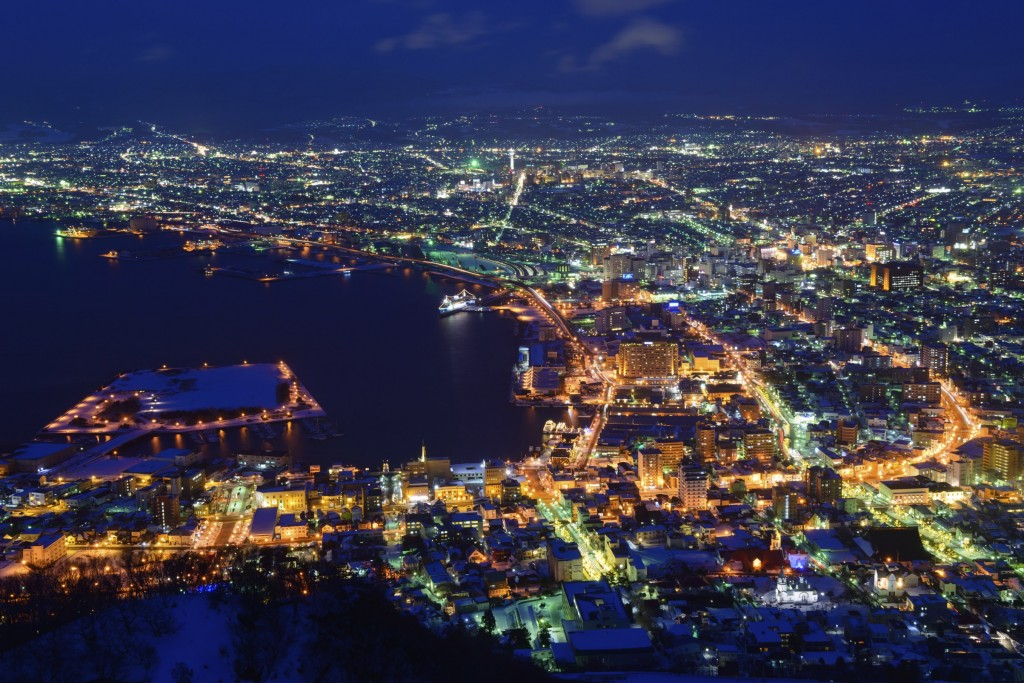 View of Hakodate at night from Mount Hakodate