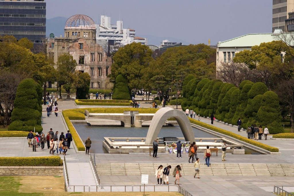 Peace memorial and the A-Bomb Dome in Hiroshima, Japan