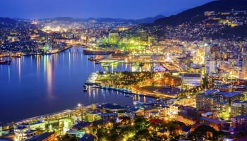 Nagasaki cityscape at night is one of the best views in Japan