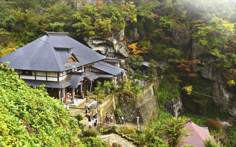 Yamadera temple in Yamagata Prefecture in the Tohoku region