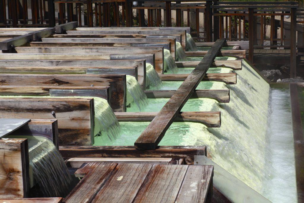 Kusatsu onsen in Gunma, Japan
