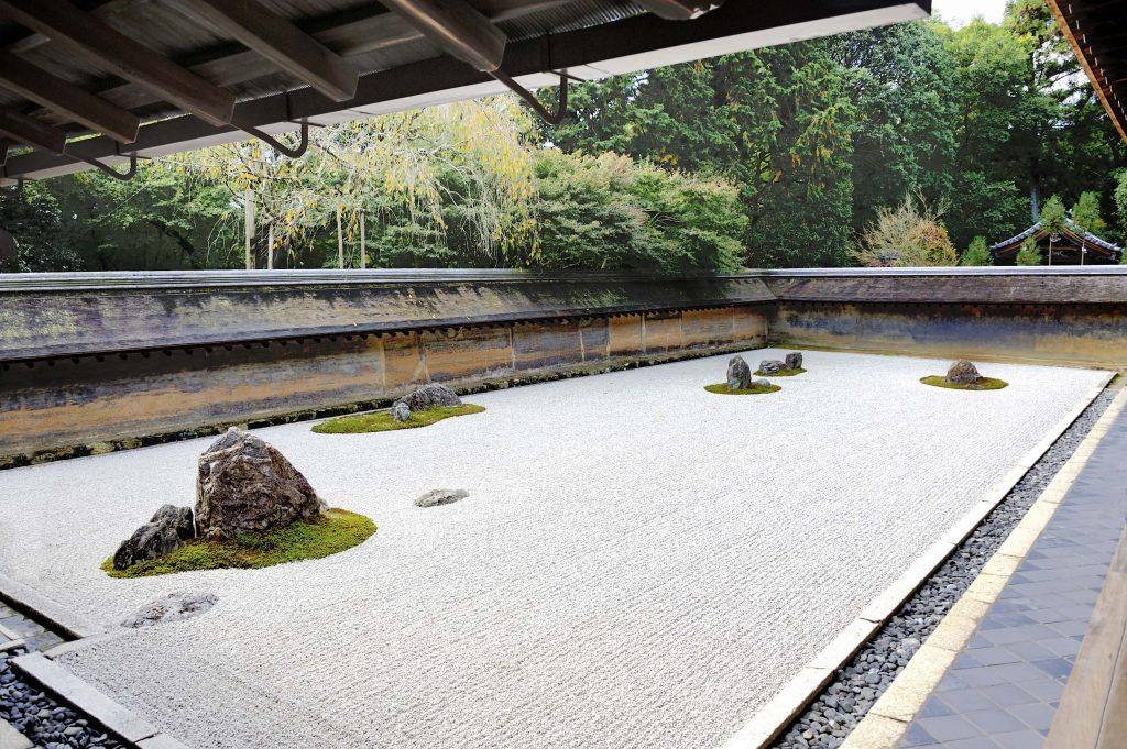 zen rock garden in ryoanji temple - Zen Rock Garden