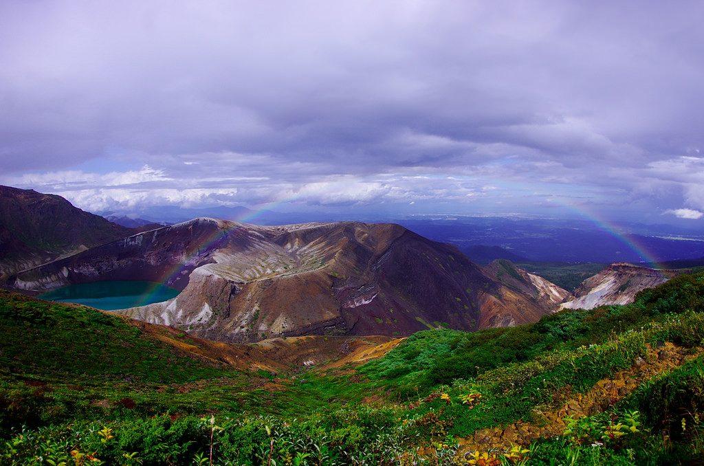 Okama crater at Zao Onsen, Yamagata.