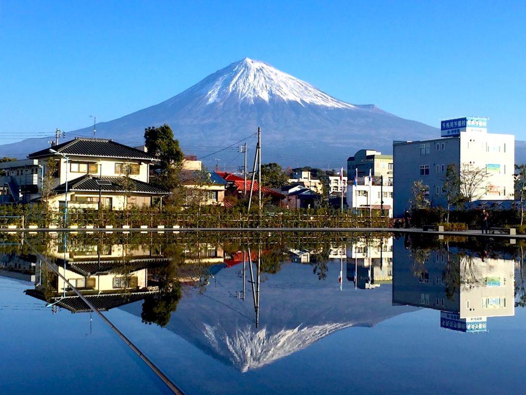 Fujinomiya Gaijinpot Travel Mount Fuji Shizuoka Tourist Pass Mini 3 Days Photo By Joshua Meyer View Of Over The Pond From Heritage Center