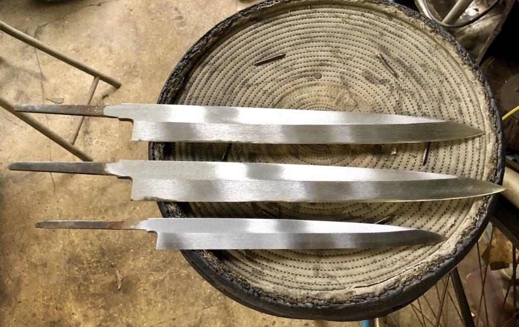 Sakai- at the sharpener.